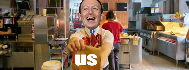 Why we're the French fries in Facebook's fast food restaurant